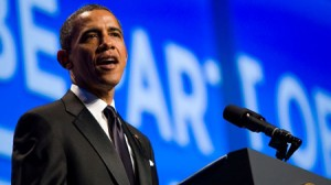 U.S. President Barack Obama Addresses Gay Activists At Human Rights Campaign Dinner