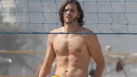 Check out these images sexy actor Ashton Kutcher shirtless playing beach volleyball with a group...