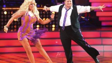 Here is last night performance of Chaz Bono and her dance partner Lacey Schwimmer during...